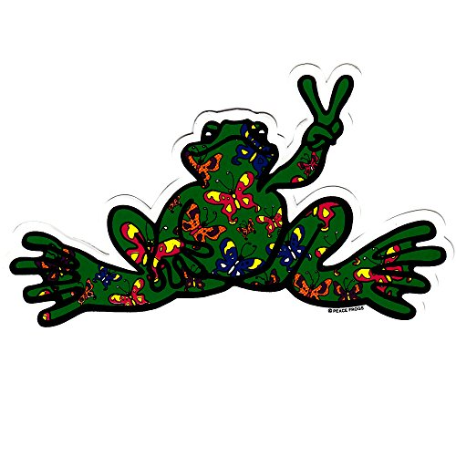 (Peace Frogs Butterfly Fill Sticker, Multicolored)