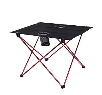 Mesa Plegable Ligera con Portavasos, Campamento Portátil para Acampar Al Aire Libre De Actividades Recreativas