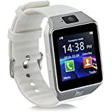 Aipker Touch Screen Bluetooth SmartWatch Phone with Camera SIM TF Card Slot Compatible All Android Smart Phones Black AK-09 White