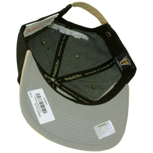 Ness Gorra para talla única béisbol amp; Negro Mitchell de hombre regulable Negro a7x45nq