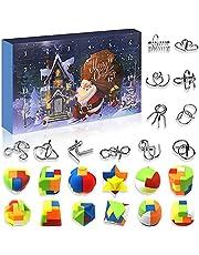 Christmas Advent Calendar 2021, Christmas 24 Days Countdown Advent Calendar Fidget Toys, Metal Wire and Plastic Puzzles Advent Calendar for Kids Boys Girls Adults