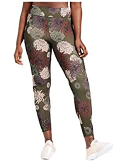 cb7809b19bd JoyLab Women s Performance Chrysanthemum Floral Print Mid-Rise Leggings  Deep Olive.