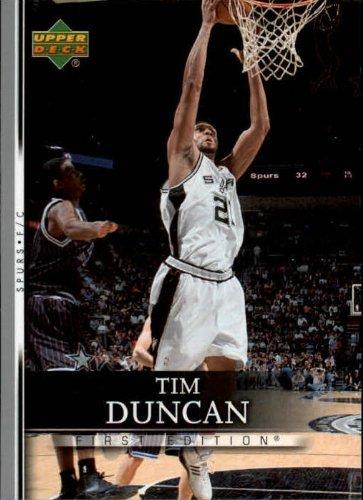 2007 Upper Deck First Edition Basketball Card (2007-08) #175 Tim Duncan Near Mint/Mint -