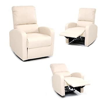 Fauteuil Relax Creme.Centralferramenta Fauteuil Relax Inclinable Avec Repose Pieds Systeme D Inclination Manuel Creme