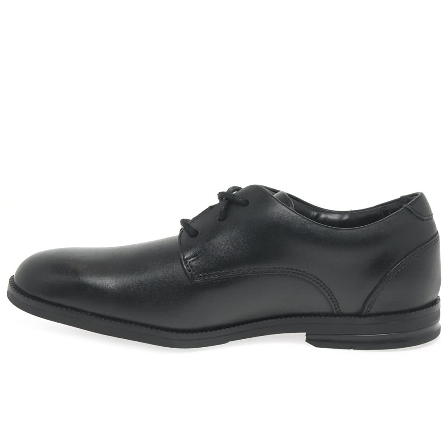 Clarks Rufus Edge BL, Derbys Garçon, Noir (Black Leather), 22.5 EU