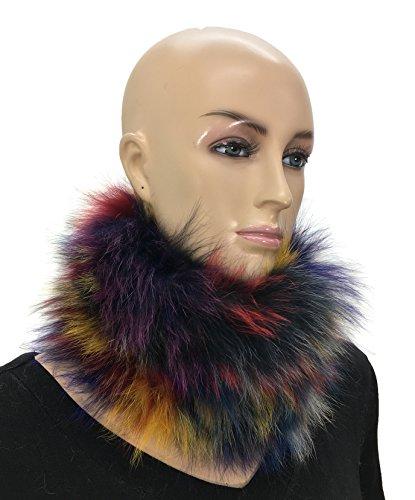 HIMA 100% Real Winter Fox Fur Headband, Collar, Neck Warmer, Cuff. Multi-color