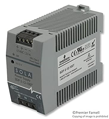 SOLA-HD SDP2-12-100T Power Supply; AC-DC; 12VDC@2.5A; 85-264VACIn; Enclosed; DIN Rail Mnt; Industrial