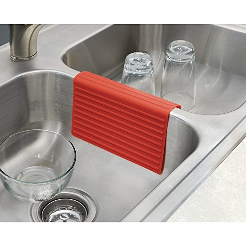 Mdesign Silicone Kitchen Sink Protector Mat And Divider