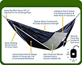 Hammock Bliss Sky Bed - Hangs Like A Hammock, Sleeps Like A Bed - Unique Asymmetrical Design Creates An Amazingly Flat and Insulated Camping Hammock - Integrated Suspension 100''/250 cm Rope Per Side
