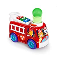 Bright Starts Having A Ball Toys, Roll and Pop Fire Truck