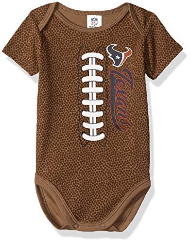 NFL Houston Texans Unisex-Baby Football Bodysuit, Brown, 3-6 Months