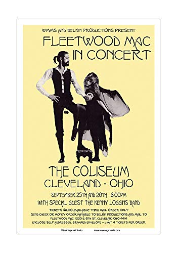 Raw Sugar Art Studio Fleetwood Mac 1977 Cleveland Concert Poster ()