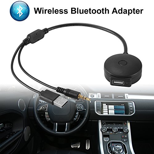XCSOURCE Wireless Bluetooth Audio Adapter USB and 3.5mm AUX Interface to USB Female Adapter Cable for BMW /Mini Cooper (Bmw Bluetooth Microphone)