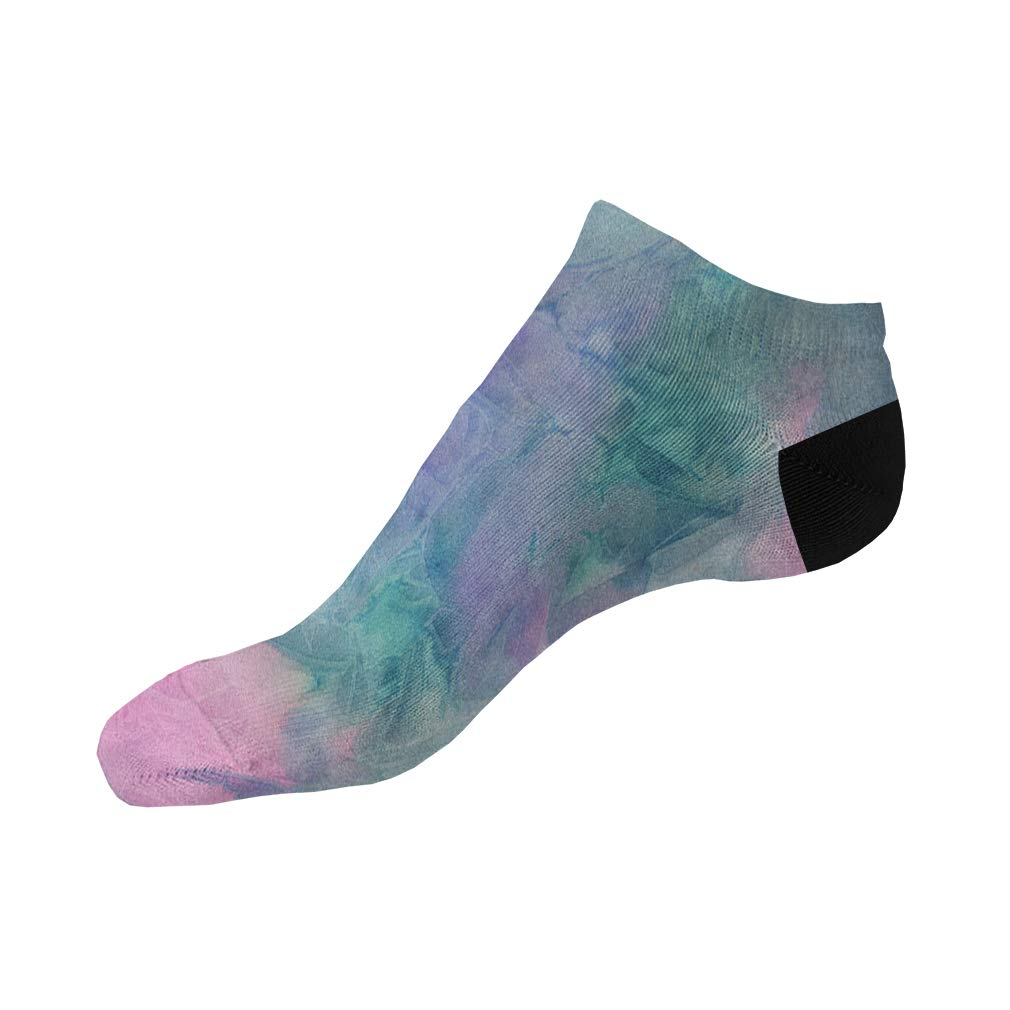 Purple Pink And Green Frozen Men-Women Adult Ankle Socks Crazy Novelty Socks