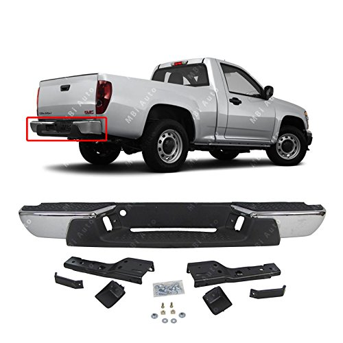 MBI AUTO - Chrome, Steel Rear Bumper Assembly for 2008-2012 Chevy Colorado & GMC Canyon Pickup 08-12, GM1103156