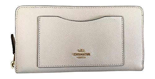 Coach Crossgrain Leather Accordian Zip Wallet
