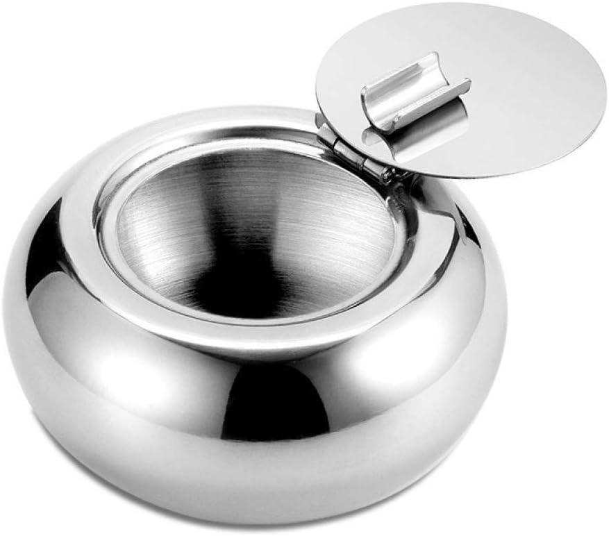 葉巻灰皿, 灰皿灰皿ステンレススチールドラム状の灰皿灰皿テーブルカバー@ A、色: (Color : A)