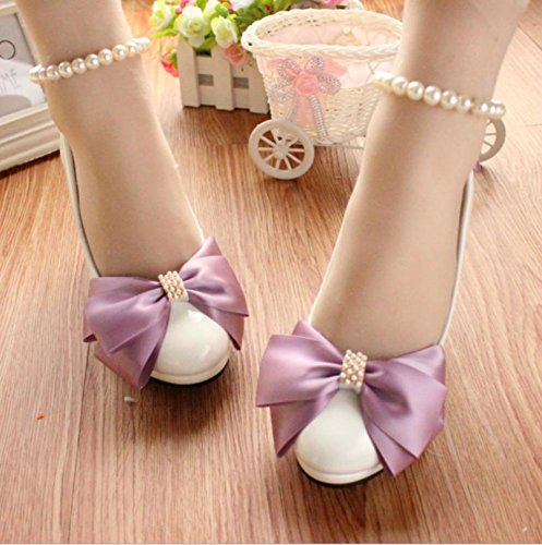 Anklet colorful Bride Dress Heel Si pearl Height bridesmaid Women's And Bowknot amp; banquet Summer Cn35 Pink Shoes handmade Wedding spring Party Decals customize ZxHwZ7p8q
