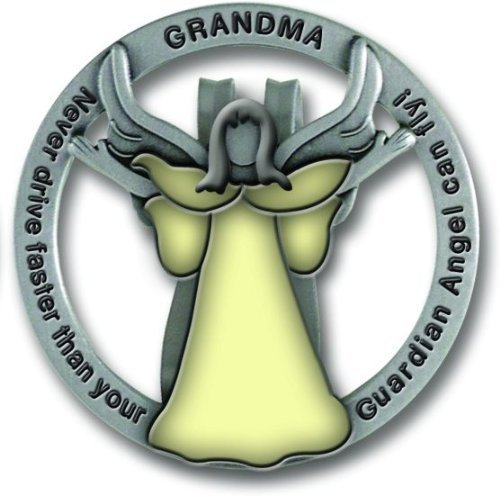 Cathedral Art GVC109 Glow in The Dark Guardian Angel Visor Clip, Grandma, 1-3/4 Inch