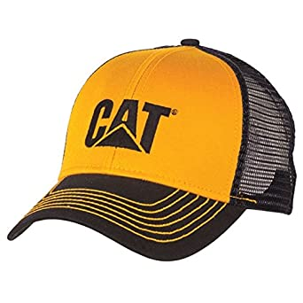8105aebfab1 Image Unavailable. Image not available for. Color  Cat Yellow Twill Blue Mesh  Cap