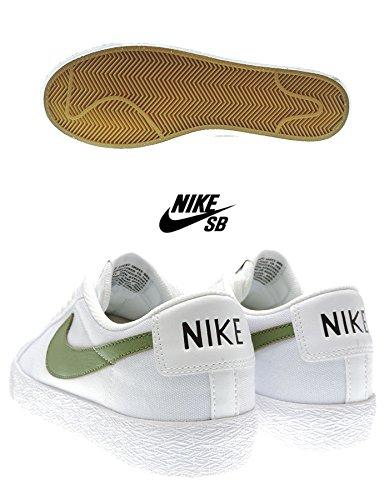 Nike Skateboard Blazer Zoom Low Xt Mens Trainer (10,0 D (m) Us Mens, Bianco / Verde Palm)