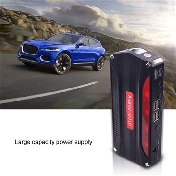 avviatore a Caduta 68800Mah Supporto per Auto a Benzina da 2.2 Litri Doppio Cavo USB Corrente di Picco 600A Cabzswh Avviamento di Emergenza per Auto 12V