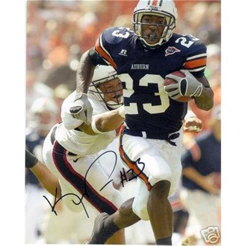 Kenny Irons Autographed Auburn Tigers (Blue Jersey) 8x10 Photo (Kenny Irons)