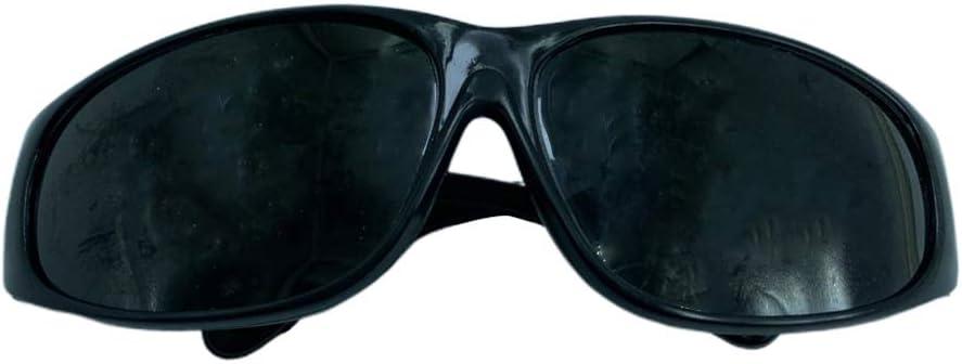 Almencla Gafas de Soldadura de Plástico para la Protección de Seguridad de Máquinas de Soldar - Negro
