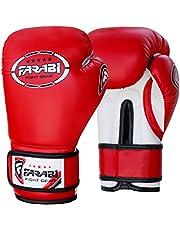 Farabi dziecięce rękawice bokserskie 6 oz Farabi, skóra syntetyczna, do treningu, boksu, fitnessu, gimnastyki, treningu (czerwone, 6 oz)