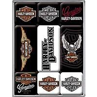 Nostalgic Art Harley Davidson Logos Magnet Set