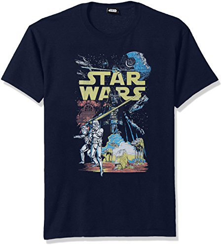 Star Wars Men's Rebel Classic Graphic T-Shirt, Navy, 3X-Large