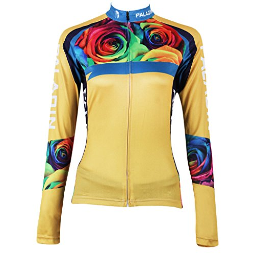 qinying-women-rose-flowers-printing-long-sleeves-bicycle-jersey-yellow-l