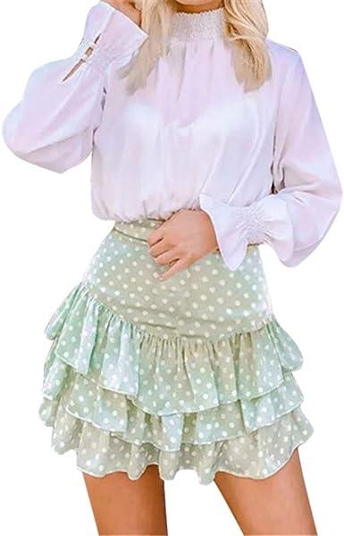 Seringlings Día del Miembro Falda de Las señoras Falda de Lunares ...