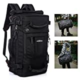 Overmont Travel Backpack Carry-On Bag Water Resistant Flight Approved Weekender Duffle Backpack Rucksack Daypack for Men Women
