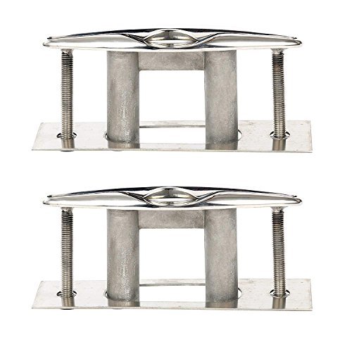 Retractable Cleat - Amarine-made Pair Of Boat Marine Stainless Steel 316 Pull up Cleat Flush Mount Cleat Lift - 6 Inch