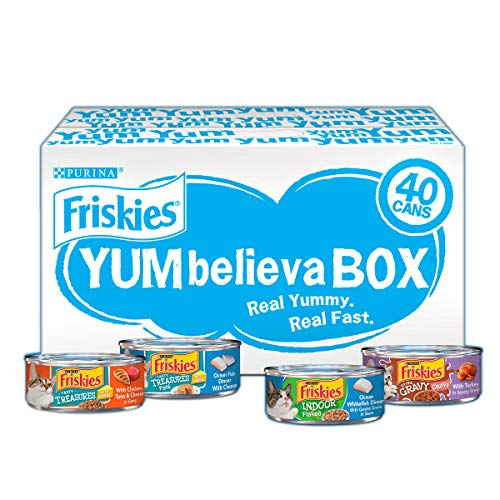 Purina Friskies Wet Cat Food Variety Pack; YUMbelievaBOX YUM-Sational Treasures - (40) 5.5 oz. Pull-Top Cans