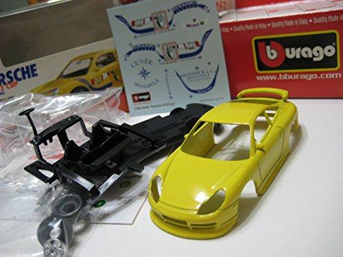 Bburago (Italy) Yellow Porsche 911 GT3 Cup (Monopole Champaign) 1:43 Kit Nib (Gt3 Porsche Cup)