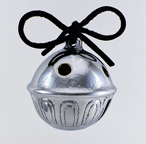 Real Christmas Polar Sleigh Bell Ornament, Jingle Express From Santa's Sleigh Bells 3c Lignite Leather & Bells #3c