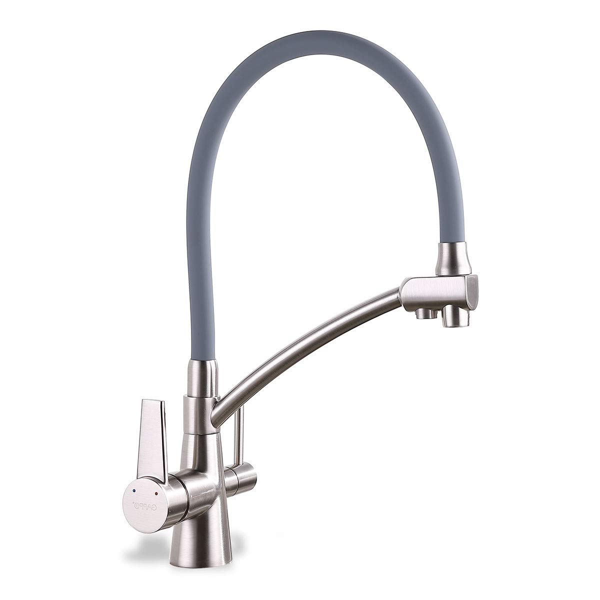 GAPPO Pull Out Kitchen Faucet with Lead Free Drink Water Filter Function Brushed Nickel