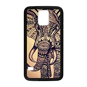 Aztec Pattern Elephant Custom Phone Cases Design for Samsung Galaxy S5 covers with Balck Laser Technology for...