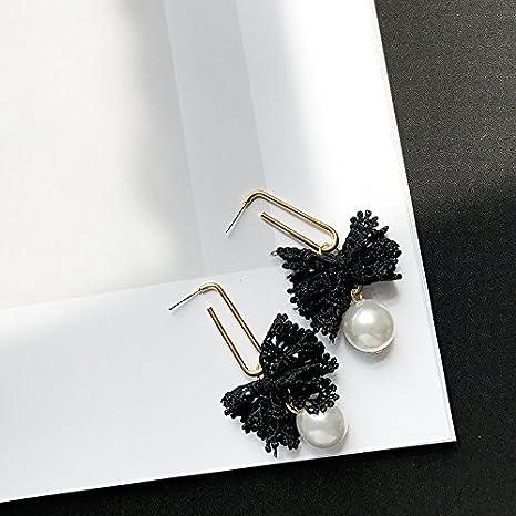 45b2bda18536 BAOZIV587 Aretes Cristal Moda Lace especiales adicionales pendientes perla  temperamento largo