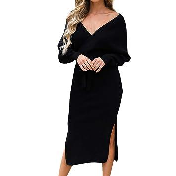 Vestidos Largos Elegantes Mujer SUNNSEAN Vestido de ...