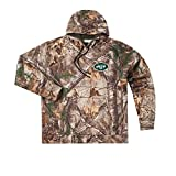 NFL New York Jets Adult Champion Realtree Xtra Polyester Tech Fleece Pullover, X-Large, Camo