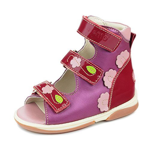 Memo Vicky 3JE Diagnostic Sole Ankle Support Girl's Orthopedic Leather Sandal, 28 (11K) by Memo