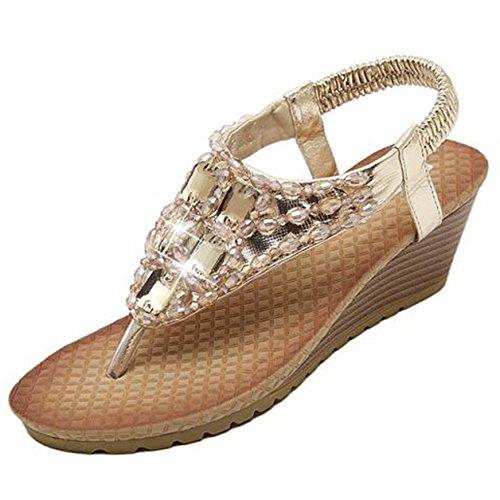 SUNAVY - Zapatos de tacón  Mujer dorado