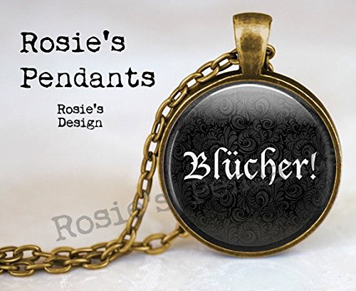 Blücher ! Halloween Costume Necklace Jewelry - Frankenstein Pendant Necklace - Halloween Jewellery - Frau Quote - Cosplay -