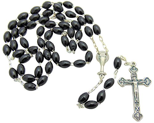Boys First Communion Rosary From Italy with Plastic Case &
