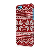 Ugly Red & White Knitted Christmas Sweater Apple iPhone 5c Plastic Phone Protective Case Cover