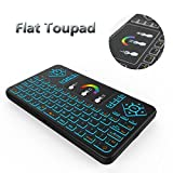 Ilebygo Backlight Mini Wireless Keyboard Q9,Android TV Remote,Rechargeable Mouse with Touchpad Combo. Fly Air Remote Mouse For Android TV