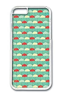 Custom Design Covers for iPhone 6 PC Transparent Case - Umbrellas Background
